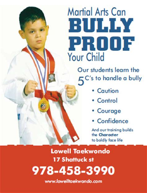 bully ology how to use martial arts to stand up for yourself defeat bullies and show the world what you can do books lowell taewkondo 101 lowell ma 01852