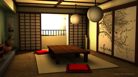 japanese room 3d traditional japanese room by niraeika on deviantart