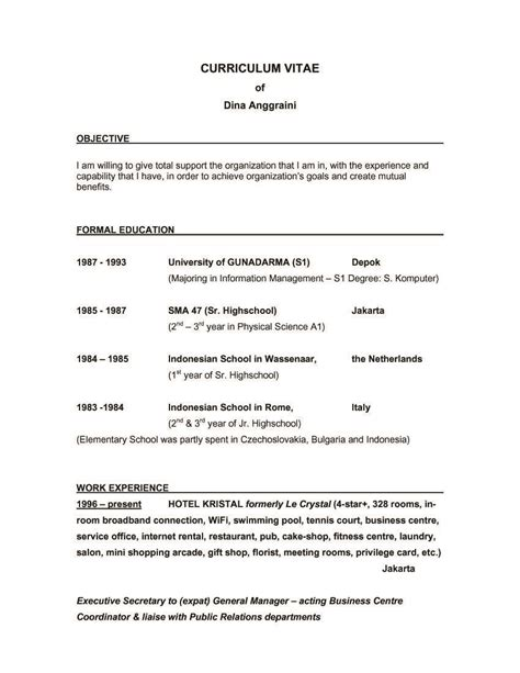 A Resume Objective by Sle Resume Objective Statements General Invoice