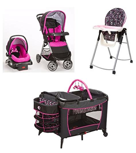car seat stroller pack and play bundle 4 minnie mouse pop newborn set stroller car seat