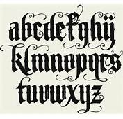 Fonts Tattoo Letterhead Alphabet