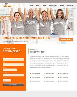 donate now donation landing page template by olanding