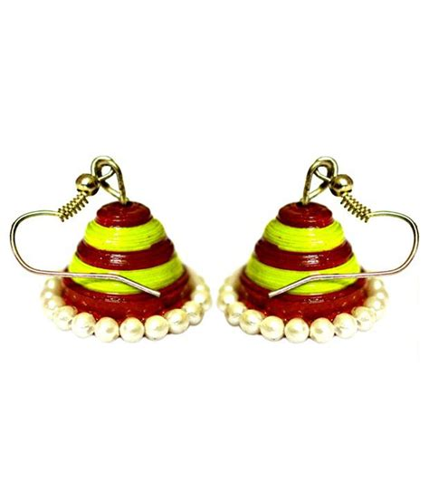 Paper Jhumka - paper jhumka this is made up of yellow and green color