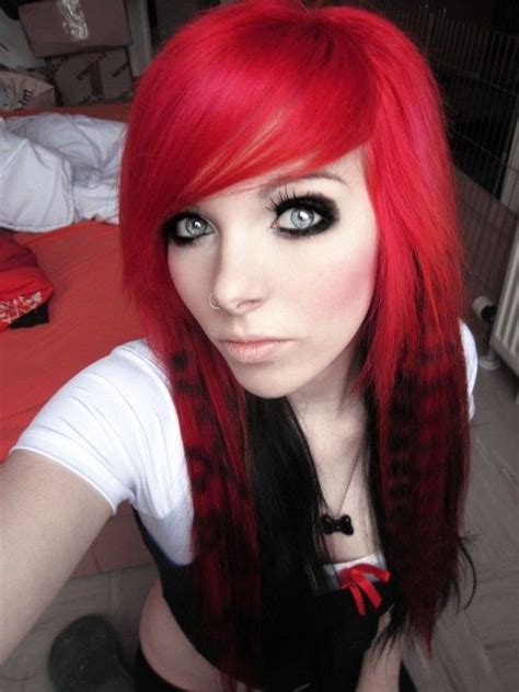 emo hairstyles red and black best emo hairstyles collection