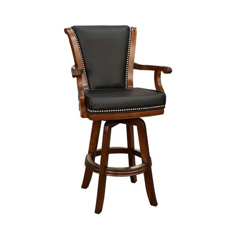 Swivel Bar Stool With Arms Leather Swivel Bar Stool With Arms Interior Design Furniture Pi