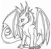 Coloring Pages Dragons  Cute