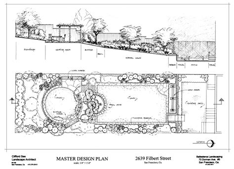 sketch plans clifford see landscape architecture portfolio sle drawings