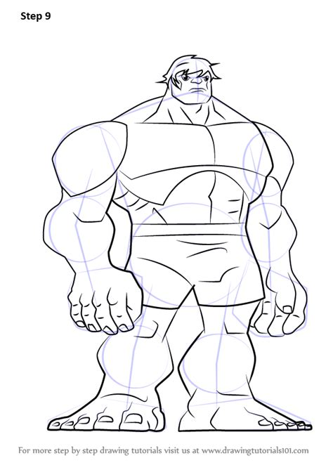 printable heroes tutorial learn how to draw hulk from the avengers earth s