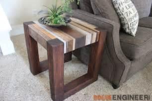 Stickley Bedroom Furniture scrap wood side table free diy tutorial rogue engineer