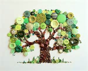 Music Inspired Bedroom Ideas Hand Crafted Tree Of Life Button Art With Swarovski