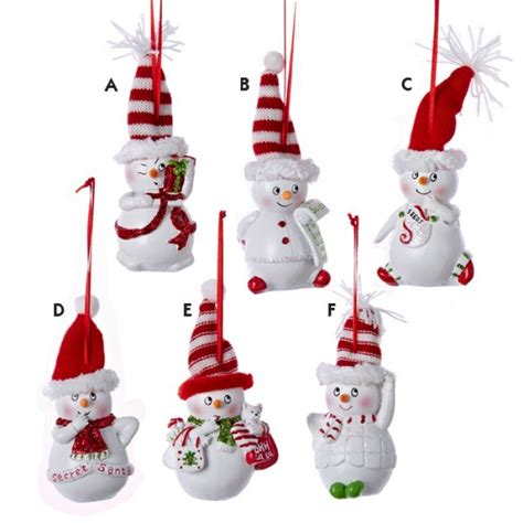 resin sassyville snowman ornament christmas and city