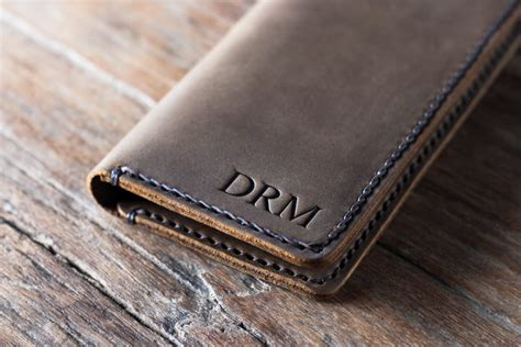 Wallet Leather Handmade - handmade leather iphone wallet personalized