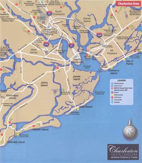 charleston map charleston sc area map