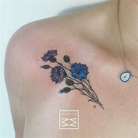 collarbone tattoo flower tattoos on collar bone best ideas gallery