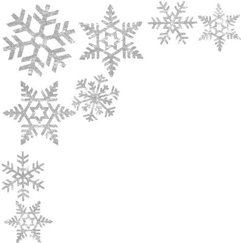 snowflakes pattern png snowflakes border png image