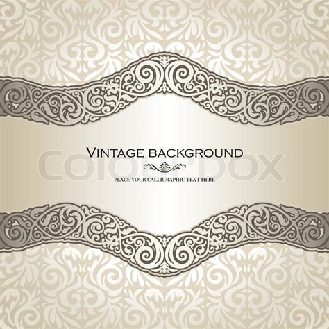 vintage ornamental pattern vintage background elegance antique victorian floral