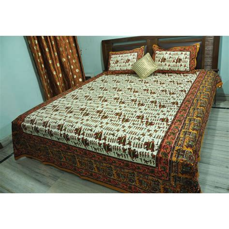 tribal print bedding tribal block printed double bedsheet with pillow cover