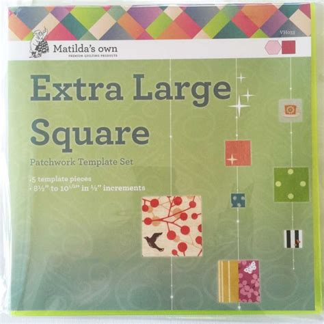 Square Patchwork Templates - matilda s own large squares patchwork template set