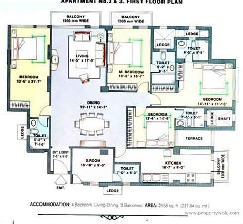 typical floor plan dlf towers dlf city phase v gurgaon