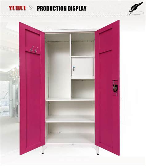 design clothes cabinet modern design bedroom furniture kd structure metal mirror