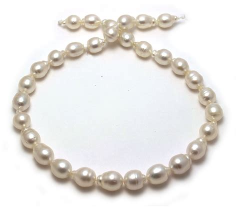 drop shaped south sea pearl necklace with semi baroque
