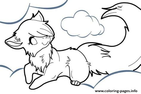 Anime Wolf Coloring Pages Printable Anime Wolf Coloring Pages