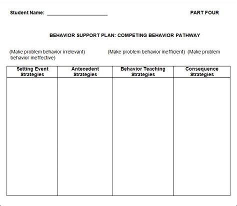 behavior plan template 3 free word pdf documents