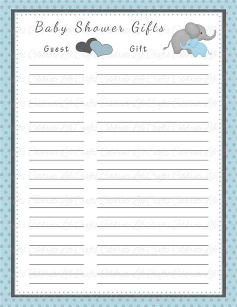 baby shower to do list template baby shower gift list template 8 free word excel pdf