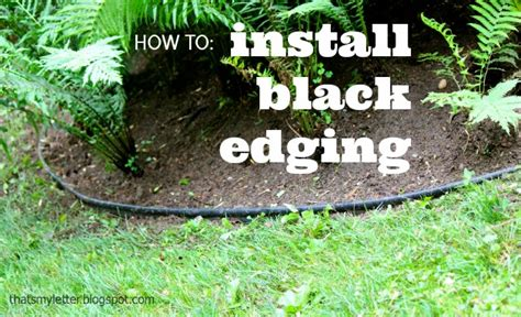 how to install landscape bed black edging pretty handy