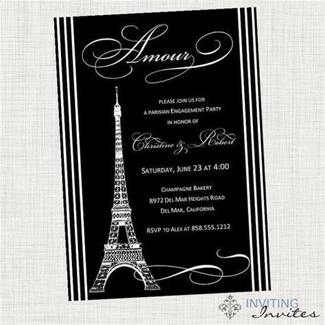 printable eiffel tower birthday invitations paris eiffel tower bridal shower invitation engagement