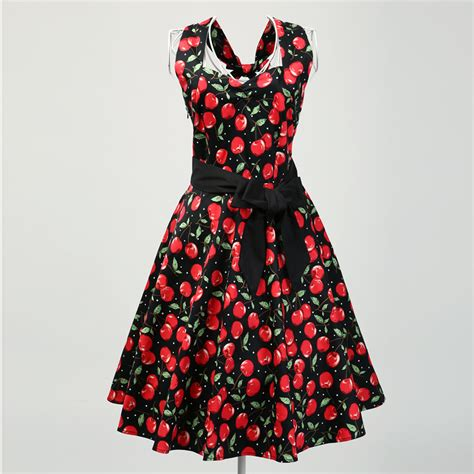retro inspired uk style dress floral backless novelty