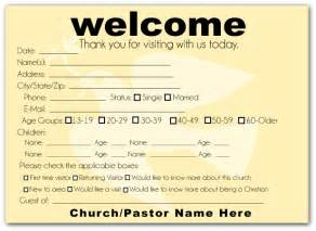 Church Welcome Card Template by How To Make A Church Welcome Pack