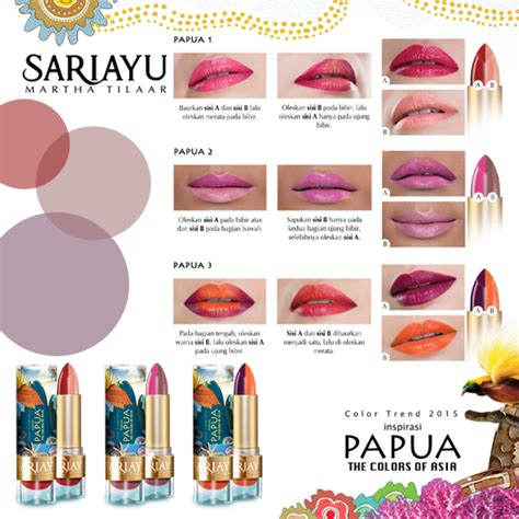 Lip Liner Sariayu review sariayu lipstick papua series p 03 my makeupdiary