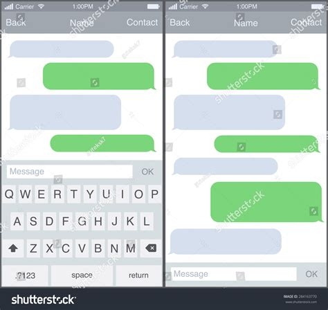 iphone template text message chat sms application template you can place your own