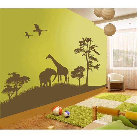 African Grand Safari Nursery Wall Decal By Couture D 233 Co Safari Nursery Wall Decals