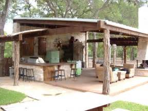 Cabana Design Ranch Style Entertaining A Rustic Covered Outdoor Kitchen