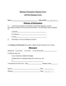 hipaa release form template information release form hipaa free