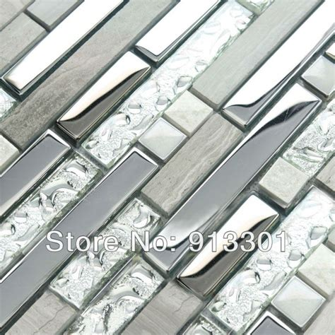 stainless steel and glass tile backsplash kitchen backsplash stainless steel crafts