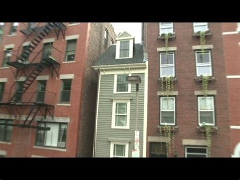 narrowest house in boston the skinny on boston s narrowest home youtube