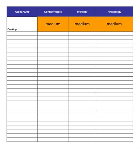 asset register card templates 15 asset inventory templates free sle exle