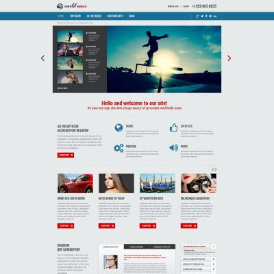 bootstrap templates for news portal news portal joomla templates