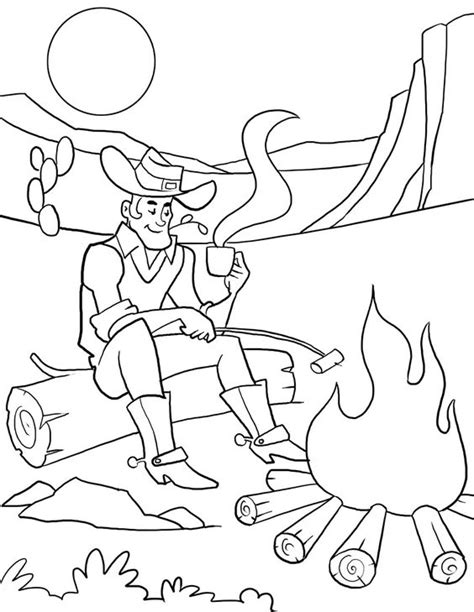 cowboy cfire coloring page for children prek class