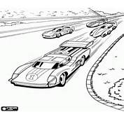 Colorear Coches De Carreras En El Circuito Hot Wheels