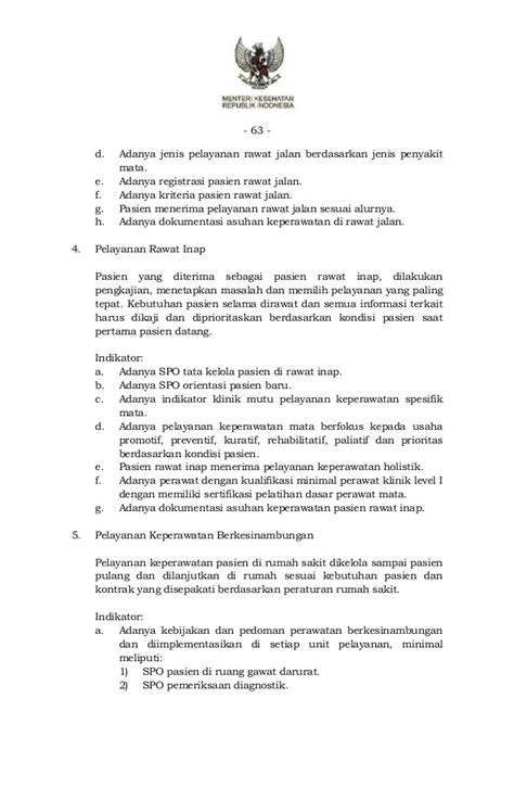 format asuhan keperawatan rawat inap pmk no 10 tahun 2015 ttg standar pelayanan keperawatan di