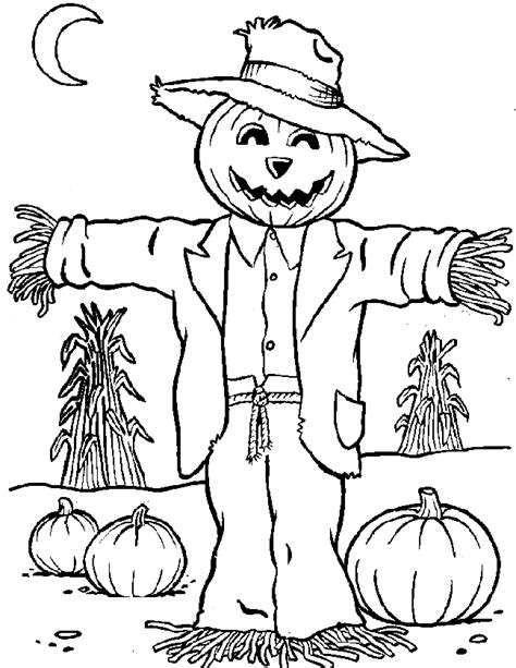 Scarecrow Color Page Free Printable Scarecrow Coloring Pages For Kids
