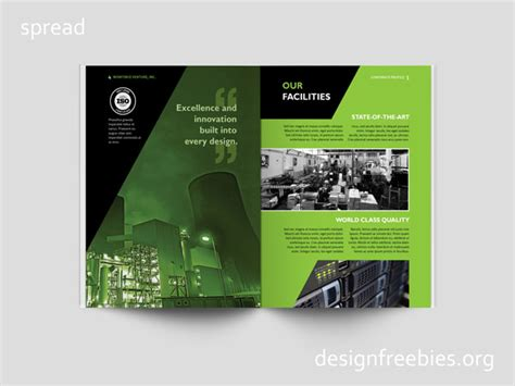 company profile template indesign free black and green company profile indesign template