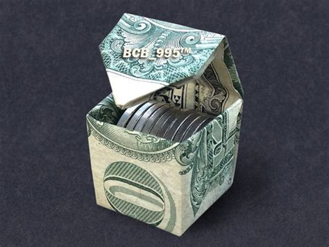 Origami Money Box - cubic money box dollar origami dollar vincent the artist