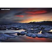 Colourful Sunset Over J&246kuls&225rl&243n Glacier Lagoon In Iceland