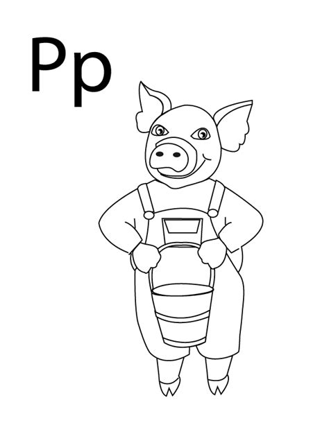 coloring book for a p coloring pages letter p