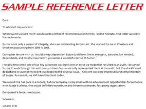 Example reference letter reference letter formal reference letter